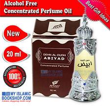 Dehn al Oudh Abiyad 20ml Alcohol Free Concentrated Perfume Oil Unisex Attar Gift