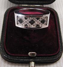 Anello di diamanti Set FRANCESE IN ORO BIANCO 18ct