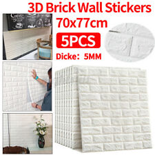 5pcs 77*70cm 3d Wall Paper Panel Brick Stickers Mural Marble Adhesive DIY Decal