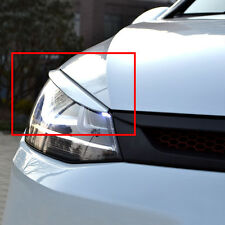 Headlights WHITE Eyelids ABS Trim Cover 3M Sport Look For VW Golf 7 VII MK7 GTI