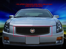 Stainless Steel Black Mesh Grille Front Grill Upper For Cadillac CTS 2003-2007