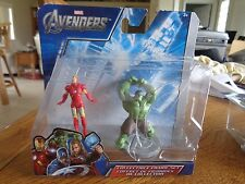 Marvel The Avengers IRON MAN And The HULK Collectible Action Figures Set NEW