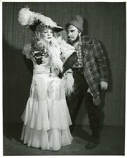 MAE WEST CONTESTANT IN MAKEUP MASQUERADE PARTY ORIGINAL 1958 NBC TV PHOTO