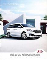 2017 Kia Sedona Van 28-page Original Car Sales Brochure Catalog