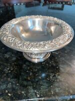 Sterling Silver Kirk Repousse Pedastal Bowl 10""
