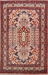 Traditional Pink Lilihan Wool Area Rug Hand-knotted Home Decor Foyer Carpet 3x5