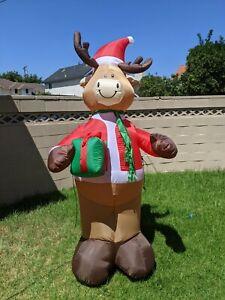 Gemmy 7ft Deer Christmas Inflatable Reindeer Xmas
