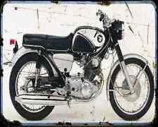 Honda Cb77 A4 Metal Sign Motorbike Vintage Aged