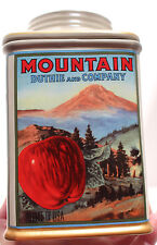 NEW MIB Oneida Kitchen Vintage Label  MOUNTAIN APPLE Canister Collection