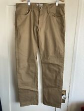 New Naked & Famous Beige Selvedge Chino Weird Guy Size 38/34 $150