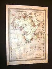 Carta geografica o mappa Marmocchi del 1876 L'Africa - Divisioni politiche