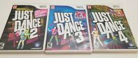 Just Dance Nintendo Wii Bundle (Just Dance 2, 3 and 4) with Manual 3 Games Lot