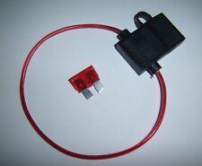 18 Gauge Ga AWG ATC In-Line Fuse Holder w/Free Fuse! Car Audio Alarm Electronics