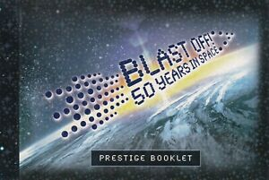 2007 PRESTIGE STAMP BOOKLET - BLAST OFF! 50 YEARS IN SPACE - THE STORY IN STAMPS