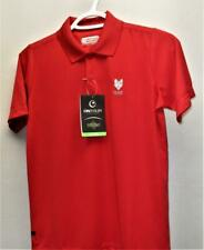 New Youth Boys Medium On Tour Web Tech 100 golf polyester polo shirt red
