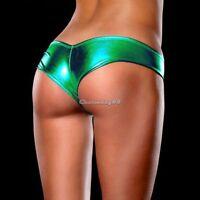 Sexy METALLIC Shorts Panties Thong  Green Magaluf Ibiza Club Buy Now  UK STOCK
