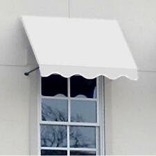 AWNTECH  8 ft. Dallas Retro Window/Entry Awning (44 in. H x 24 in. D) Off-White