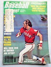 JUNE 1976 BASEBALL DIGEST MAGAZINE: RICK MANNING - CLEVELAND INDIANS