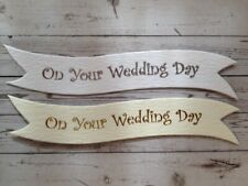 WHOLESALE 25 ON YOUR WEDDING DAY Banners Card Making Scrapbook Embellishments
