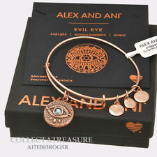 Authentic Alex and Ani Evil Eye Rose Gold Expandable Charm Bangle