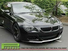 BMW E63 E64 M6 Carbon Fiber Vos Style Front Add On Lip Convertible Coupe 06-10