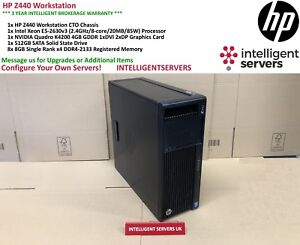 HP Z440 Workstation, Intel Xeon E5-2630 V3, 64GB DDR4, 512GB SSD, Quadro K4200