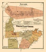 Newark White Clay Creek Delaware - Beers 1868 - 23.00 x 26.14