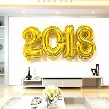 2018 Gold Foil Balloons Festival Happy New Year Room Decoration