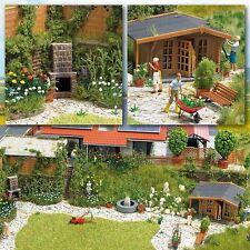 OO/HO Fleur Jardin Paysage KIT COMPLET + MAISON & fountain- Busch 1226 P3