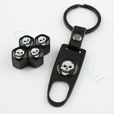 Car Key Ring Accessory Wheel Tire Valve Stem Cap Cover Pirate CrossBones Styling