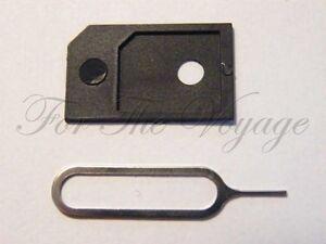 Micro SIM Adapter AND Tray Eject Pin - iPhone 7 8 X iPad Microsim Card Converter