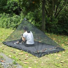 Black Mosquito Insect Net Netting Canopy Fit Outdoor Camping Travel Sleep Tent