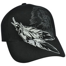 Feather Eagle Hawk Native Nature Hat Cap Shadow Adjustable Constructed