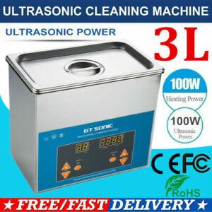 3L Digital Ultrasonic Cleaner Heater Stainless Steel Ultrasonic Washer Machine