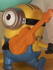 Minions (2015) McDonald's Happy Meal Minion Toy - Guitar Strumming Stuart