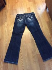 Wrangler Rock 47 Flap Pocket BootCut Embellished Ultra Lowrise Jeans Womens 9x32