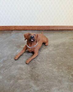 Dollhouse Miniature Dog Fox Red Labrador Retriever 1:12 Scale Pet