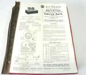 1955 RCA RADIO  & PHONOGRAPH & COLOR TV SERVICE GUIDE TROUBLE SHOOTING REFERENCE