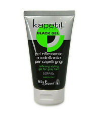 KAPETIL BLACK GEL Riflessante Modellante gel per capelli grigi 150ml NUOVO