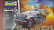 """SD.Kfz. 251/1 Ausf.B """"STUKA ZU FUSS""""  REVELL 1/35 PLASTIC KIT"""