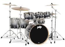 PDP by DW Drumset Concept Maple CM7 Silver to Black Sparkle Schlagzeug Shellset
