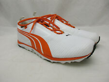 Puma Faas Golf Shoes Men's Size 11.5 White and Orange Soft Spikes