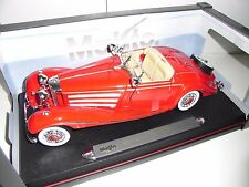 MERCEDES BENZ 500 K TYP ESPECIALROADSTER 1936 ROJO  MAISTO  1:18 NEW