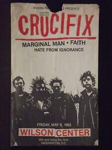 CRUCIFIX / FAITH / ORIGINAL PUNK FLYER/POSTER WILSON CENTER WASH D.C. 1983