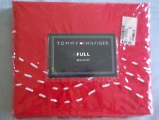 Tommy Hilfiger MOLLY Full Size Bedskirt Red 100 % Cotton  NEW