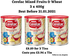 Nestle's Cerelac Mixed Fruits & Wheat Infant Cereal - 3 x 400g - 7 Months +
