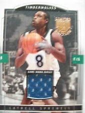 2003-04 SKYBOX LIMITED EDITION GAME JERSEY LATRELL SPREWELL TIMBERWOLVES  BOX54