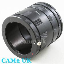 Macro Extension Tube Ring Set For Pentax PK K K7 K20D K10D K100D K200D Mount UK