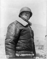 "US Army Lieutenant General George Patton March 1943 World War 2, 5x4"" Reprint"