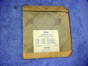 TRANSMISSION SET CHEVROLET 6 Cylinder 1929-42 NOS Felt Products FEL-PRO TS754
